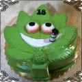 129 Tort liść marihuany maryśki zioło gandzie zielona