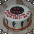 132 Tort 40 urodziny  cienie pań tańczące  laski   dla faceta