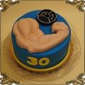 147 Tort dla mięśniaka z siłowni , spory biceps hantle na 30 urodziny