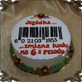 161 Tort kod kreskowy  zmiana kodu na 60 urodziny
