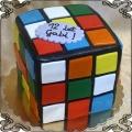 164 Tort kostka Rubika na 12 urodziny przestrzenny