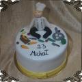 166 Tort kucharz marchewka nóż patelnia tasak- szef kuchni