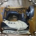 170 Tort maszyna do szycia Singer przestrzenny 2D na 60 urodziny