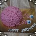 173 Tort mózg z oczami zabawny tort