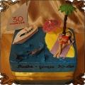 178 Tort na 30 urodziny laski dziewczyny woda plaża palma jacht   rekin