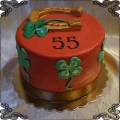 179 Tort na szczęście podkowa czterolistna koniczynka na 55 urodziny