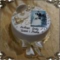 183 Tort perłowe gody z muszlą perły fototort 30 rocznica