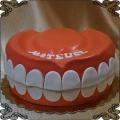 191 Tort szczęka , żeby  dla dentysty na urodziny