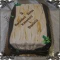 198 Tort 5 rocznica ślubu drewniana tort w kształcie drewna