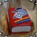 202 Tort w kształcie książki kalkulator długopis dla księgowej na 50 urodziny