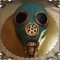 203 Tort w kształcie maski przeciwgazowej ala ufo obcy