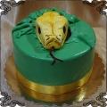 214 Tort z głowa węża wychodząca z tortu