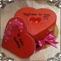 218 Tort zaręczynowy w kształcie czerwonego serca z miejscem na pierścionek