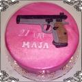 22 Tort z pistoletem dla dziewczyny Torty artystyczne Kraków Cukiernia Pod Arkadami