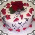 41 Tort malowany z żywymi różami Torty artystyczne Kraków Cukiernia Pod Arkadami