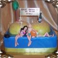 44 Tort na pięćdziesiąte urodziny wyspa cyce palmy  szampan