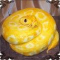 57 Tort wąż Pyton zółty z lukru
