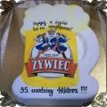 65 Tort kufel piwa żywiec 2D dla piwosza na trzydzieste piąte urodziny