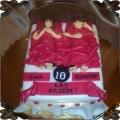 74 Tort dziesiąta rocznica ślubu małżonkowie w łóżku Cukiernia Pod Arkadami Kraków