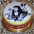 83 Tort z motywem z filmu Pulp Fiction ręcznie malowany