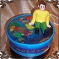 87 Tort dla podróżnika z mapą świata z opłatka jadalnego