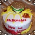 88 Tort fast food hamburger ala Mcdonald zestaw z frytkami