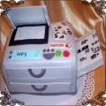 90 Tort w kształcie maszyny ksero  copy machine