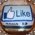 96 Tort przycisk lubie to z facebooka