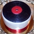 97 Tort czarna płyta gramofonowa muzyczny
