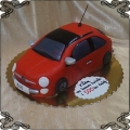 100 Tort fiat 500  czerwony samochód auto przestrzenne, car cake