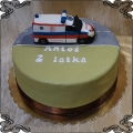 105 Tort karetka pogotowia figurka z lukru ambulans cake