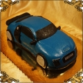 125 Tort w kształcie audi R8 niebieskie auto sportowe