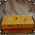 127 Tort w kształcie boiska do koszykówki basketball cake