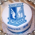 43 Tort logo Lech Poznań Torty artystyczne Kraków