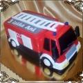 44 Tort wóz strażacki czerwony przestrzenny Torty artystyczne Kraków