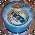 59 Tort z jadalnym opłatkiem Real Madryt logo