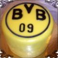 7 Tort z herbem Borussia Dortmund Torty artystyczne Kraków