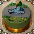 93 Tort auto policyjne na drodze na 3 urodziny figurka