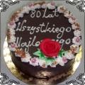 19 Tort urodzinowy na 80 urodziny w czekoladzie Cukiernia Pod Arkadami Kraków