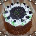 67 Tort z wiśniami w posypce miodowej klasyczny tort okolicznościowy Cukiernia Pod Arkadami Kraków