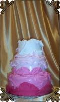 20 tort ombre  cake pomarszczony  różowy cukiernia pod arkadami