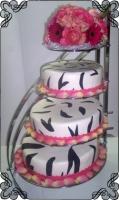 29 Tort na wesele zebra z bukietem kwiatów Torty Artystyczne Cukiernia Pod Arkadami Kraków