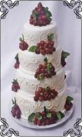 49 tort ślubny z ze świeżymi malinami plus wzorki sezonowy