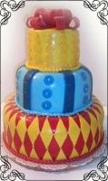 69 Tort na wesele kolorowy z kokarda w stylu angielskim Torty Artystyczne Cukiernia Pod Arkadami Kraków