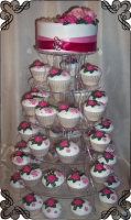 22 tort weselny z mufinkami cupcakes cake