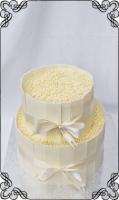 37 tort weselny tabliczki biała czekolada  kulki ryżowe
