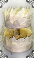 48 Nieduży tort weselny w piórach z białej czekolady Krakowskie Torty Artystyczne Cukiernia Kraków