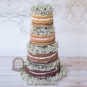 Naked cake z gipsówką