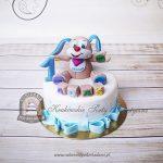 Tort na roczek - Szczeniaczek Uczniaczek
