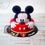 Tort piętrowy w kształcie Myszki Miki